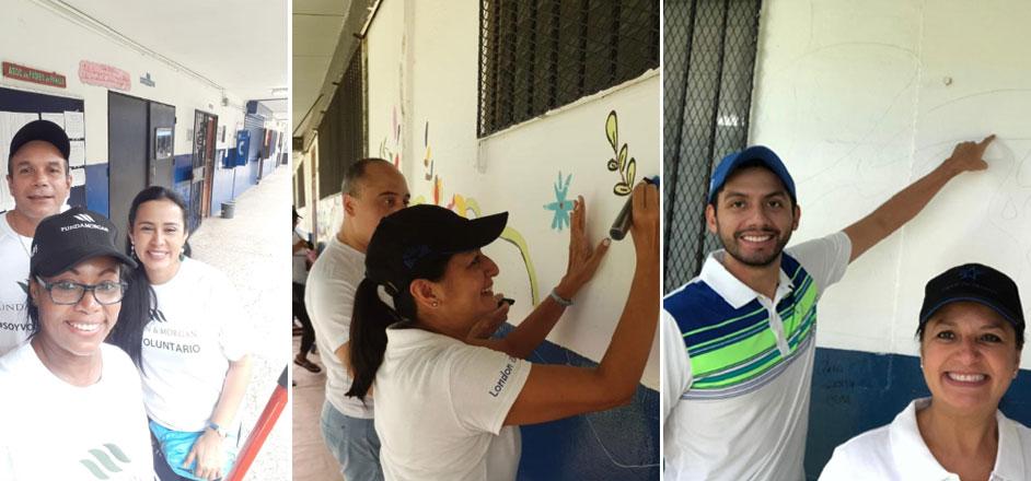 """Fundamorgan culmina con éxito su """"Reto Solidario"""" en el Colegio en el Colegio Elena Ch. de Pinate"""
