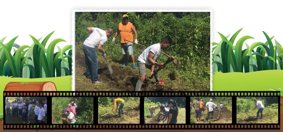 Voluntarios realizan jornada de trabajo en la comunidad de Los Yerbos