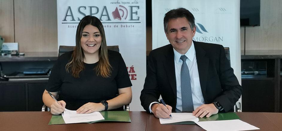 Fundamorgan firma convenio de colaboración con la Asociación Panameña de Debate (ASPADE)