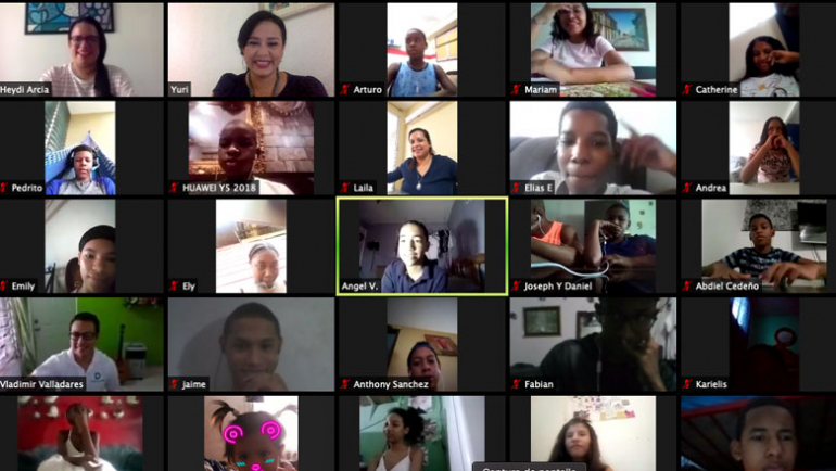 Taller Virtual con jóvenes de Fundación Espacio Creativo