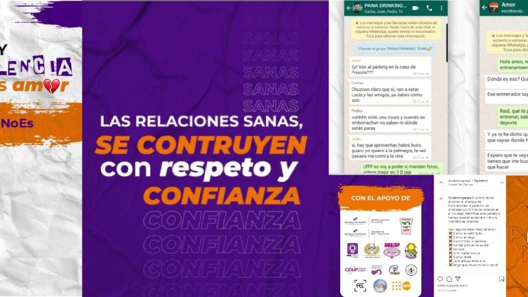 Campaña #SiHayViolenciaNoEsAmor