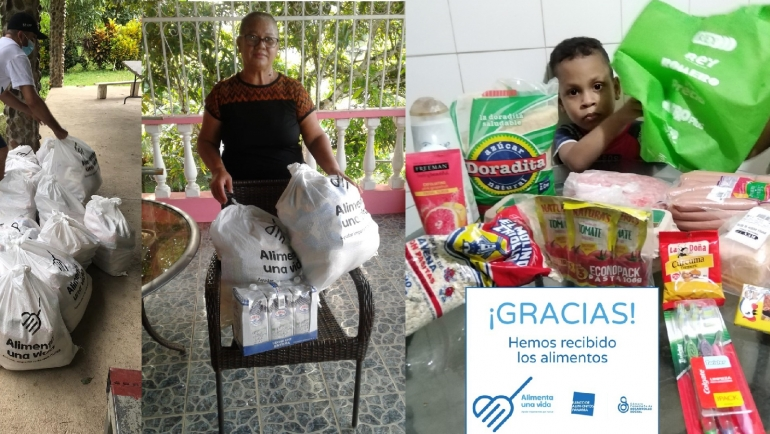 Seguimos distribuyendo bolsas de comida